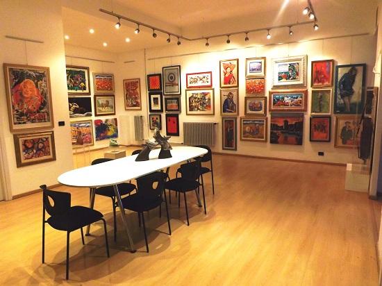 Galleria arte como lago