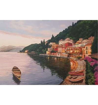 Luci riflesse Varenna lago di Como