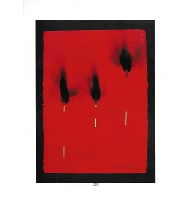 papier rouge brùlè